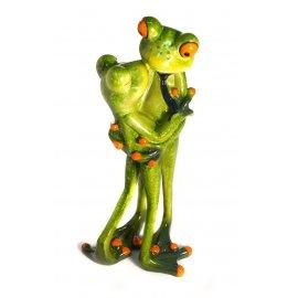 Frosch Paar küssend im Stehen