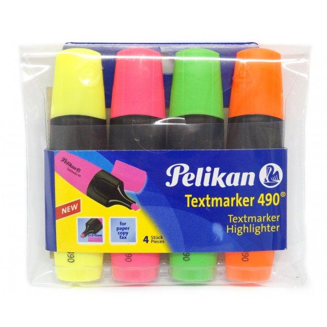 Textmarker 4er-Set 490