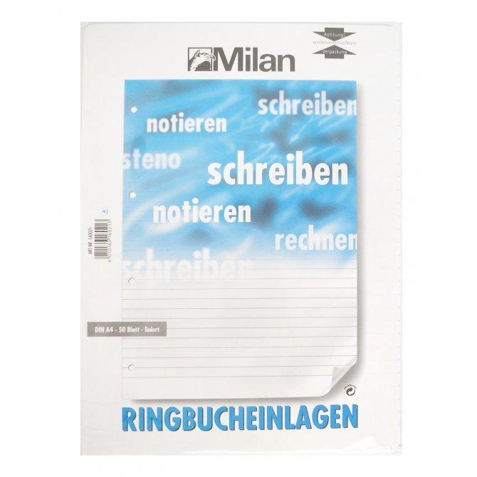 Milan Ringbuch-Einlage A4 50Bl Chlorfrei Liniert