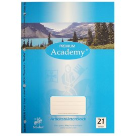 Arbeitsblätterblock liniert 21 Academy