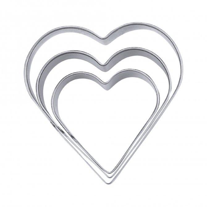 Terrassenausstecher Herz 3,4,5
