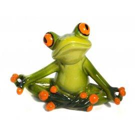 Frosch Yoga meditierend