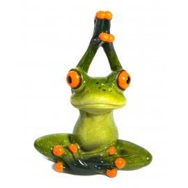 Frosch Yoga Hände oben