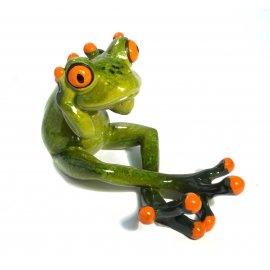 Frosch Yoga Hände hinter dem Kopf