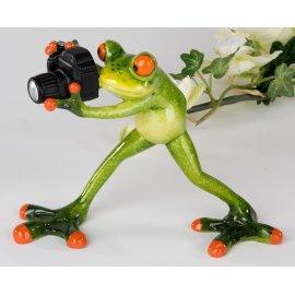 Frosch mit Kamera