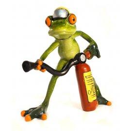 Frosch mit Feuerlöscher