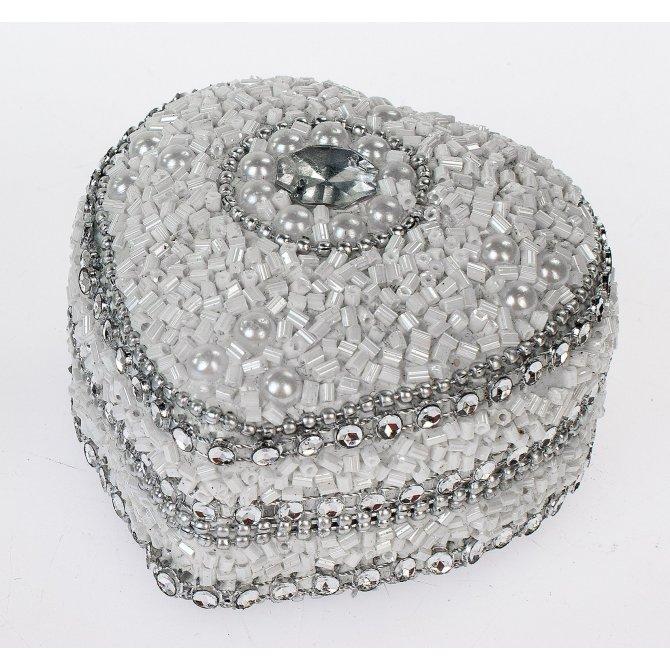 Herzdose Perlen 7cm