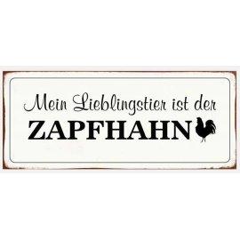 Metallschild Zapfhahn