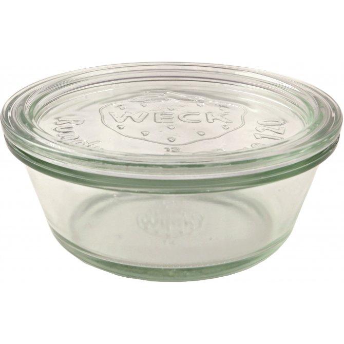 Rundrandglas Gourmetform mit Deckel