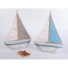 Segelboot Musheln Holz