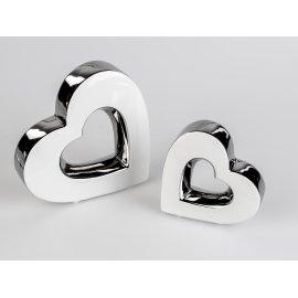 Herz weiß-silber