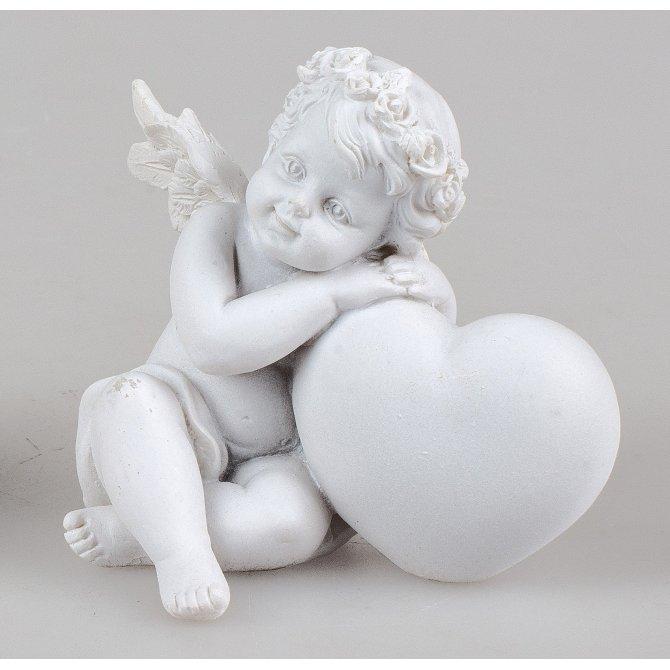Engel an Herz 8cm