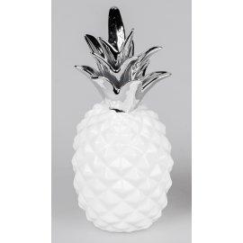 Deko Ananas weiß-silber