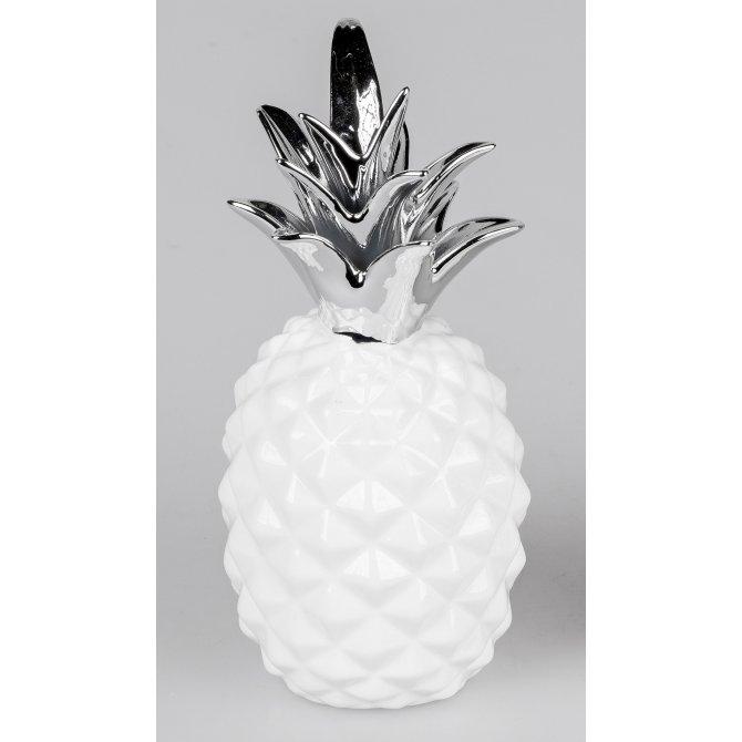 deko ananas wei silber geschenkhaus bellm. Black Bedroom Furniture Sets. Home Design Ideas