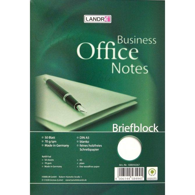 Briefblock blanko A5