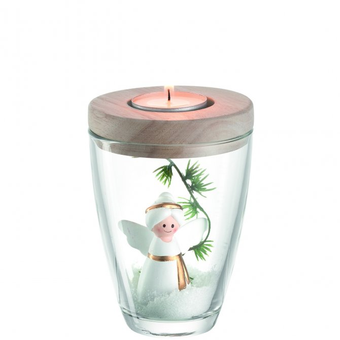 Engel mit Vase und Tischlicht Aurora