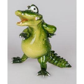 Kroko Charlie zeigend