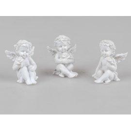 Engel mit Rose 7cm