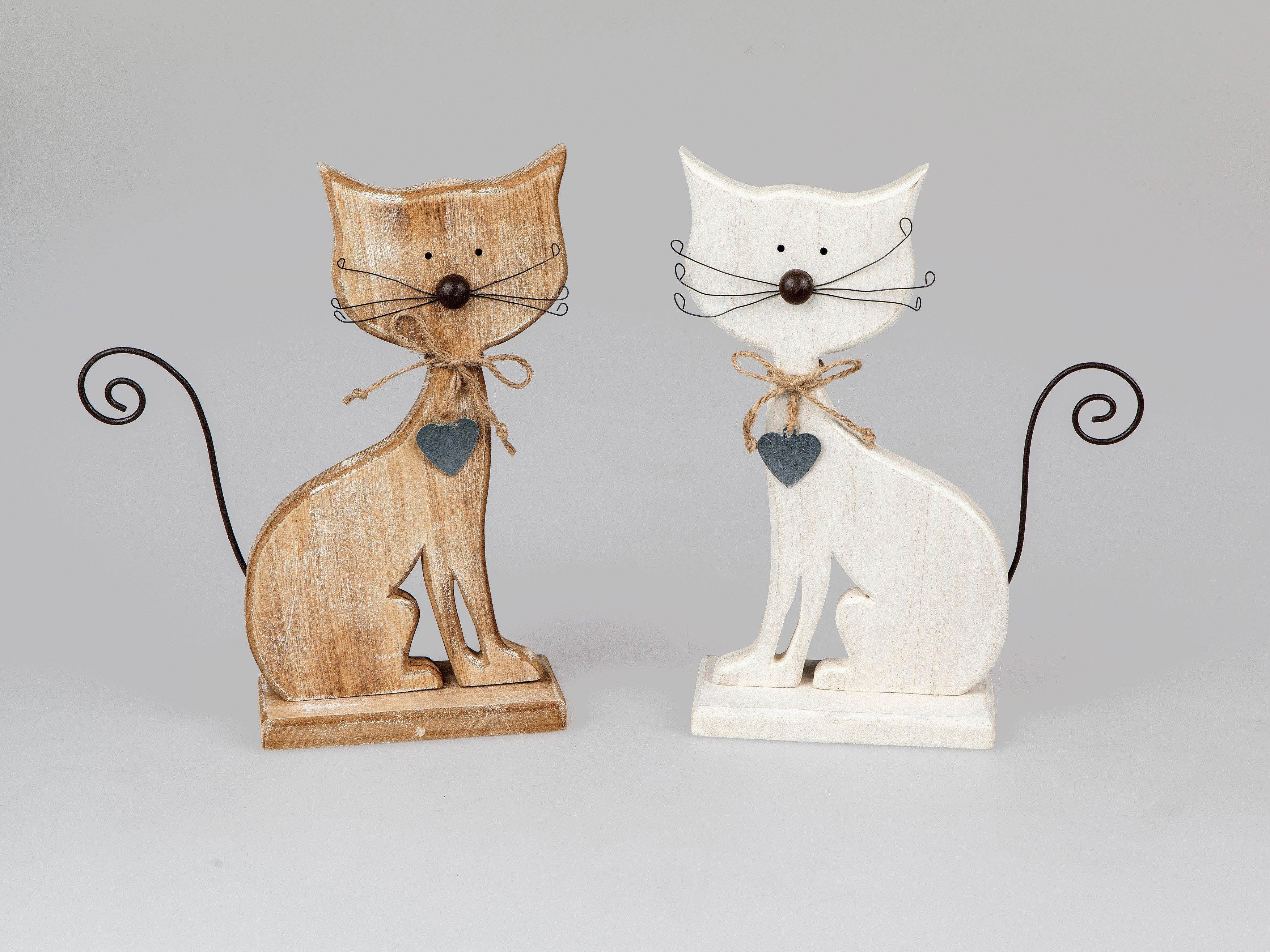 Katze Holz 24cm - Geschenkhaus Bellm