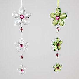 Hänger Blume Acryl grün-rosa 35cm