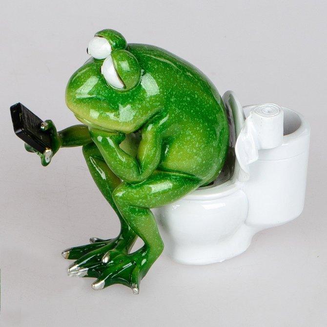 Frosch Rudi Toilette