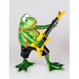 Frosch Rudi Musiker Gitarre