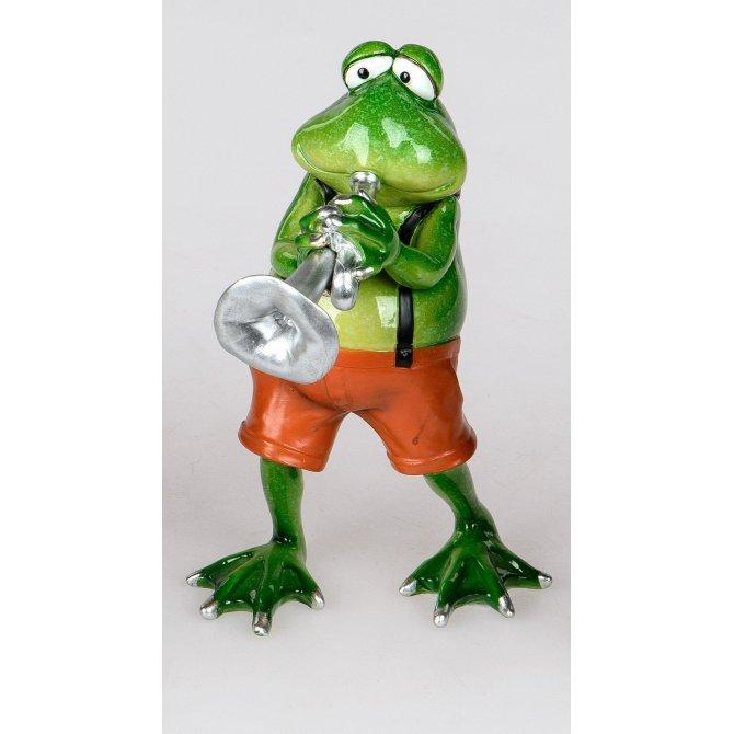 Frosch Rudi Musiker Trompete