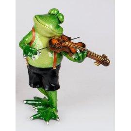 Frosch Rudi Musiker Geige