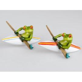 Frosch im Boot Kanu