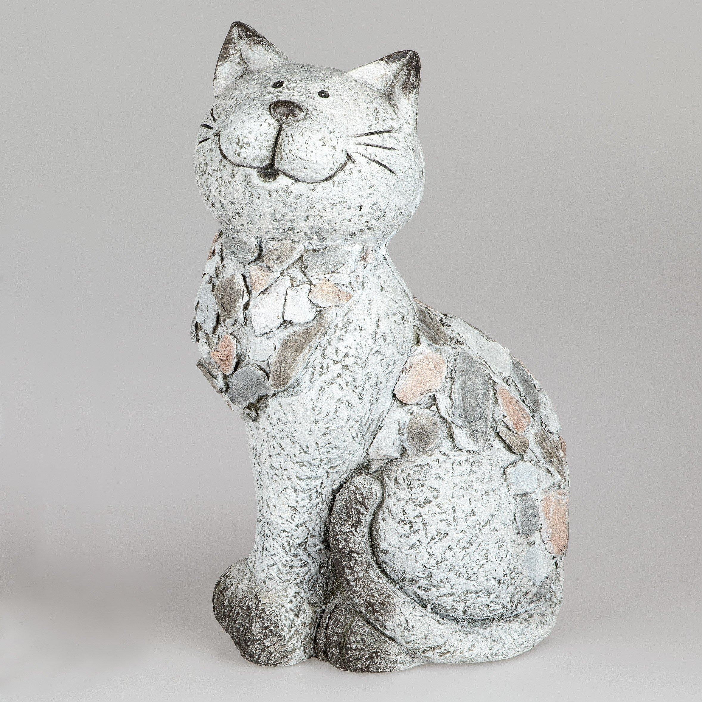 Katze 40cm Stein-Mosaik - Geschenkhaus Bellm
