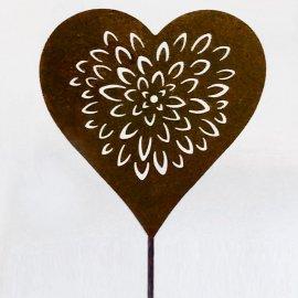 Stecker Herz 18 cm Rost Antik