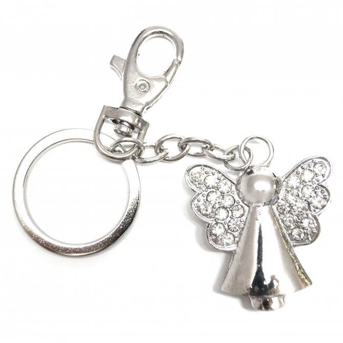 Schlüsselanhänger Engel Strass