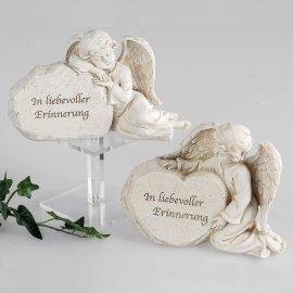 Engel an Stein Trauer