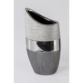 Vase flach Luxor silber