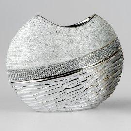 Vase breit Champagn.Stones