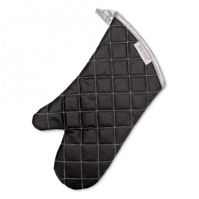 Backhandschuh schwarz Baumwolle