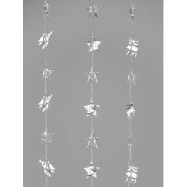 Girlande 100cm Metall silber Acryl