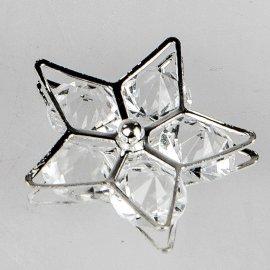 Deko-Stern mit Glassteinen silber-Kristall
