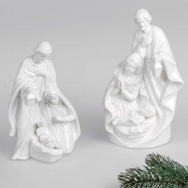 Heilige Familie 20cm Porzellan weiß