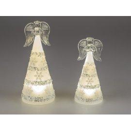 Engel Acryl LED silber