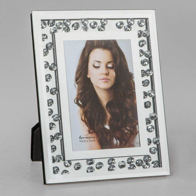 Fotorahmen 10x15cm Brilliant-Spiegel