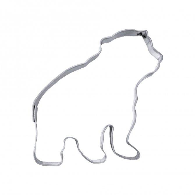 Ausstecher Eisbär 7cm Edelstahl