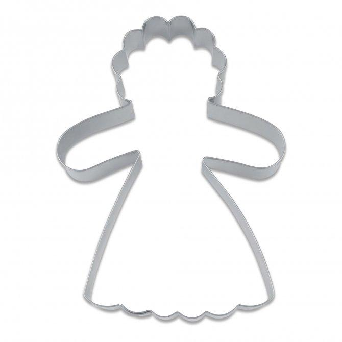 Ausstecher Lebkuchenfrau 9cm Edelstahl