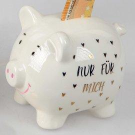 """Sparschwein 15cm """"Nur für mich"""""""