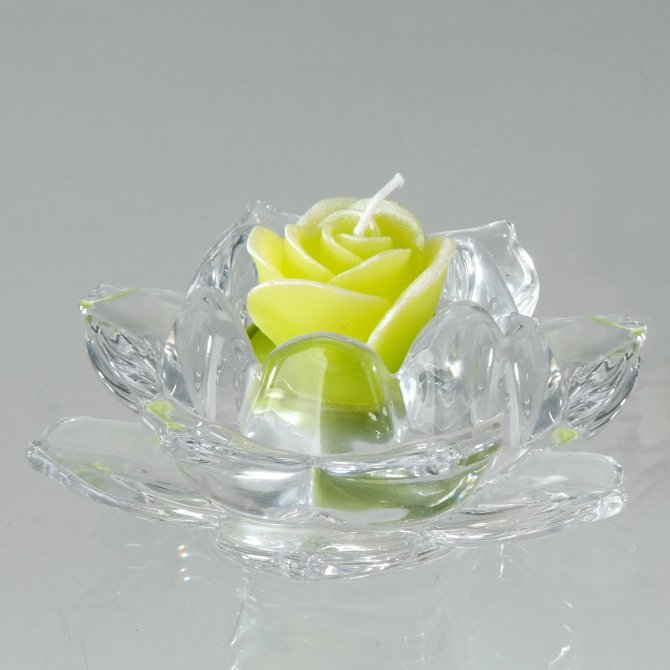 Leuchter Rose 11cm transparent