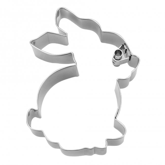 Präge-Ausstecher Hase sitzend 7cm Edelstahl
