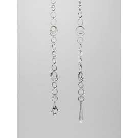 Kette Ringe 90cm Acryl-klar