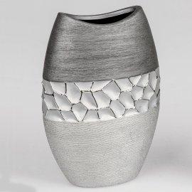 Vase silber-grau