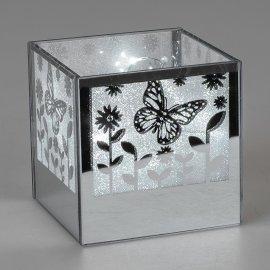 Deko-Licht Schmetterling quadratisch 11cm