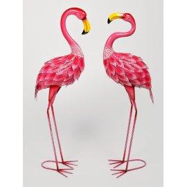 Flamingo 90cm Metall rosa